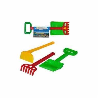 Plastic strand speelgoed set met hark