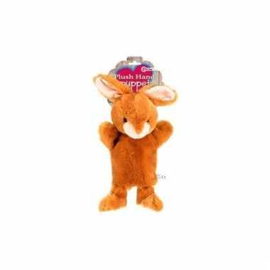 ff8438cf36a01f Pluche knuffel handpop konijn 21 cm | Pchoofdstraat.nl
