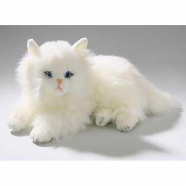 Pluche liggende perzische kat knuffel 30 cm