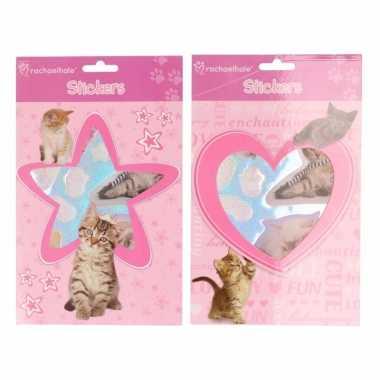 Poezen katten dieren stickertjes