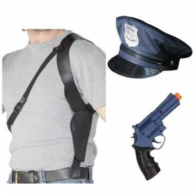 Politie verkleedsetje politiepet met accessoires