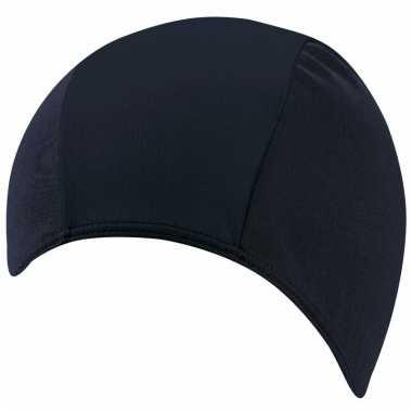Polyester badmuts donkerblauw voor volwassenen