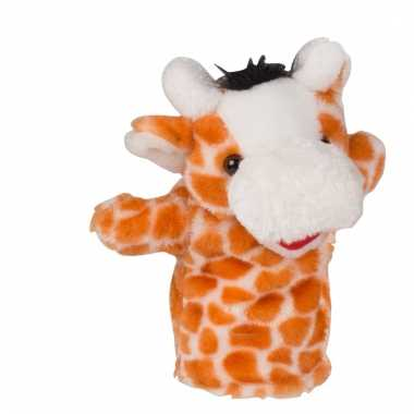 Poppentheater handpop giraffe 23 cm
