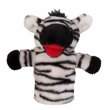 Poppentheater handpop zebra 23 cm