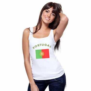 Portugeese vlag tanktop singlet voor dames