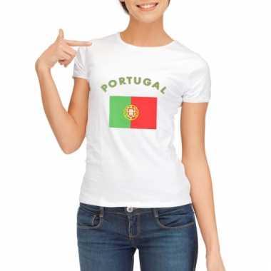 Portugese vlaggen t-shirt voor dames