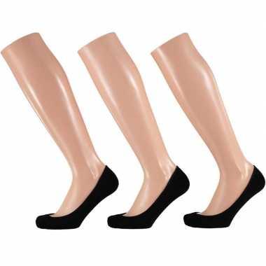 Pump sokjes zwart voor dames 9-pak