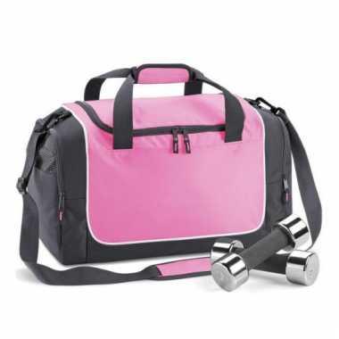 Quadra sporttassen roze met zwart