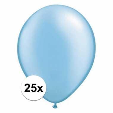 Qualatex azure blauwe ballonnen 25 stuks