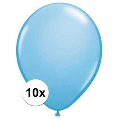 Qualatex baby blauwe ballonnen 10 stuks