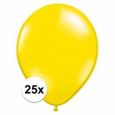 Qualatex citroen gele ballonnen 25 stuks