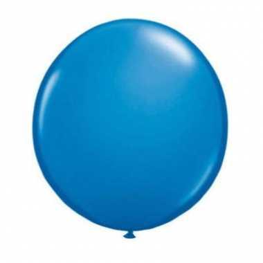 Qualatex donker blauwe ballon 90 cm