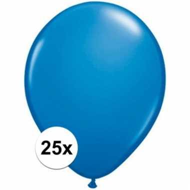 Qualatex donkerblauwe ballonnen 25 stuks