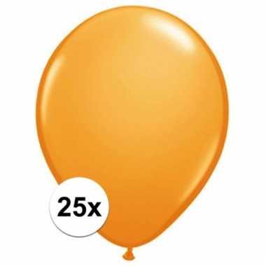 Qualatex oranje ballonnen 25 stuks