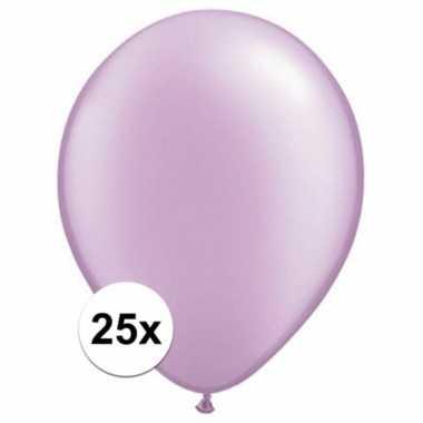 Qualatex parel lavendel ballonnen 25 stuks