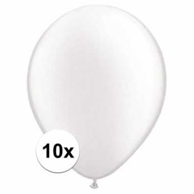 Qualatex parel witte ballonnen 10 stuks