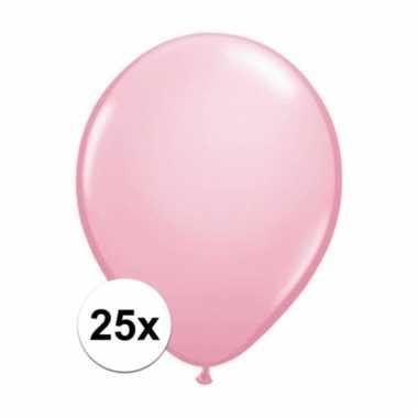 Qualatex roze ballonnen 25 stuks