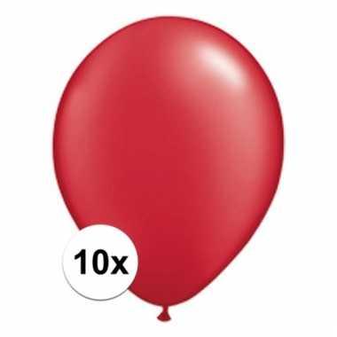 Qualatex ruby rode ballonnen 10 stuks