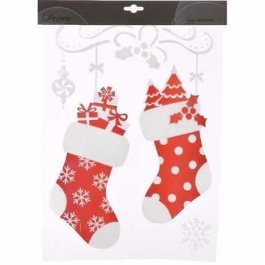 Raamstickers kerstsokken 28,5 x 40 cm type 1