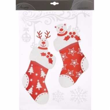 Raamstickers kerstsokken 28,5 x 40 cm type 2
