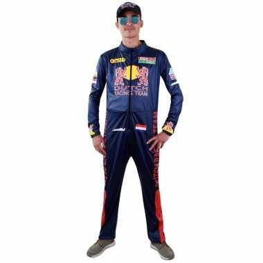 Race coureur verkleed kostuum voor heren