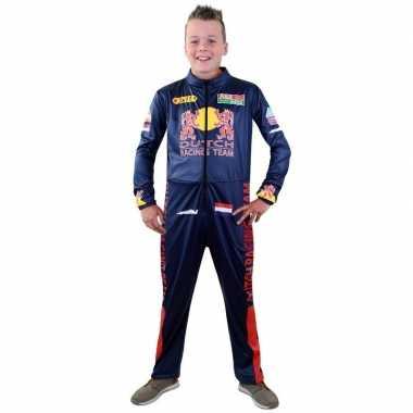 Race coureur verkleed kostuum voor jongens