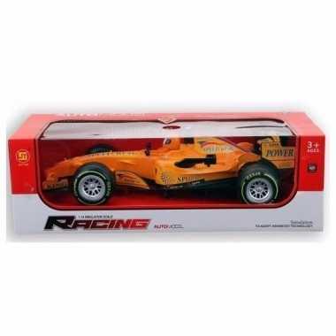 Racing speelauto geel met licht en geluid 32 cm