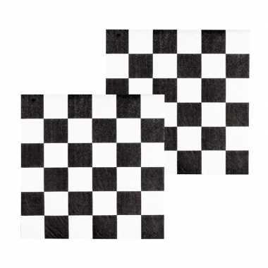 Racing thema servetten 12 stuks