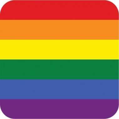 Rainbow vlag print bierviltjes