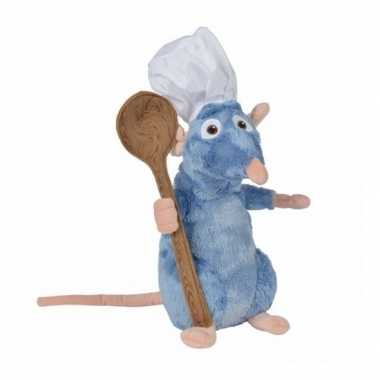 Ratatouille knuffel rat remy met lepel 25 cm