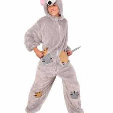 Ratten kostuum pluche jumpsuit