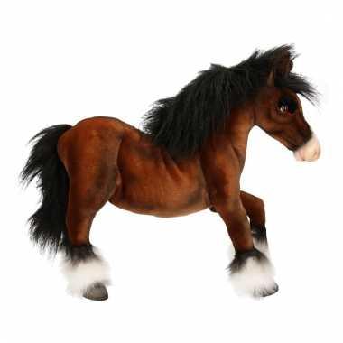 Realistische paarden knuffel clydesdale 50 cm