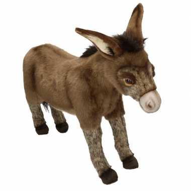 Realistische pluche ezel knuffel 41 cm