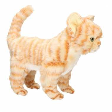 Realistische rode kitten poezen/katten knuffeldier 30 cm