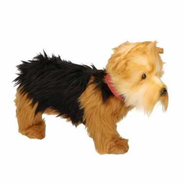 Realistische yorkshire terrier knuffeldier 25 cm
