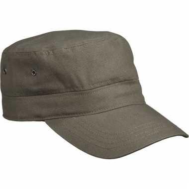 Rebel militairy cap olijf