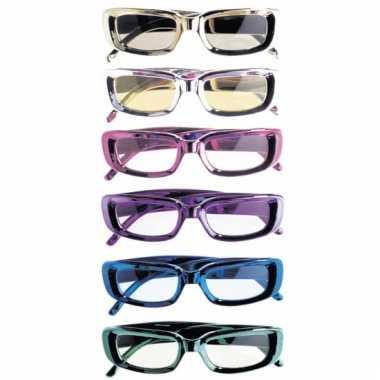 Rechthoekige feestbrillen glimmend