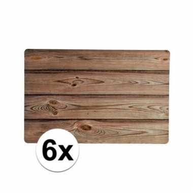 Rechthoekige placemat hout design 43,5cm x 28,5cm x 0,3cm