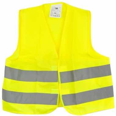 Reflecterend veiligheids vestje geel voor kinderen