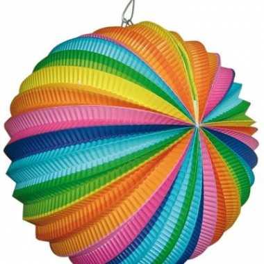 Regenboog lampion rond