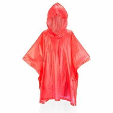 Regenponcho voor kids rood