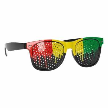 Reggae zonnebril met jamaica glazen