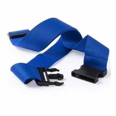 Reiskoffer riem blauw 180 cm