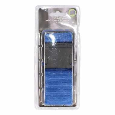 Reiskoffer riem blauw extra sterk