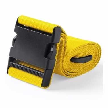 Reiskoffer riem geel 180 cm