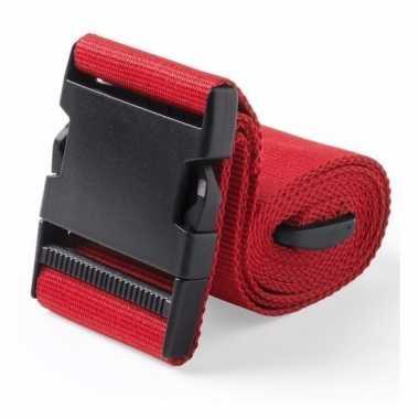 Reiskoffer riem rood 180 cm