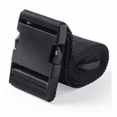 Reiskoffer riem zwart 180 cm