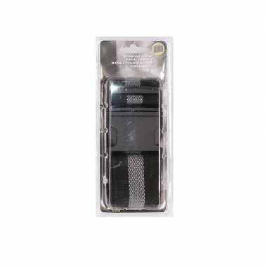 Reiskoffer riem zwart/grijs extra sterk