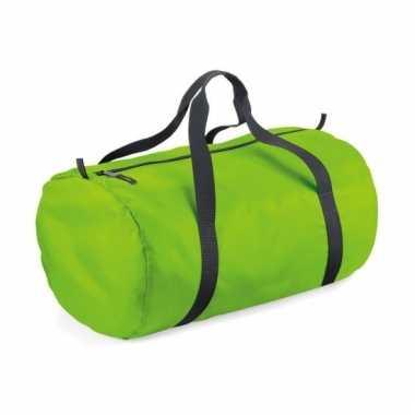 Reistassen lime groen rond 32 liter