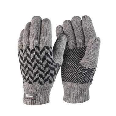 Result winter handschoenen grijs